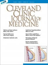 Cleveland Clinic Journal of Medicine: 86 (2)