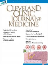 Cleveland Clinic Journal of Medicine: 86 (3)