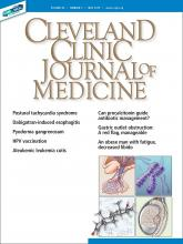 Cleveland Clinic Journal of Medicine: 86 (5)