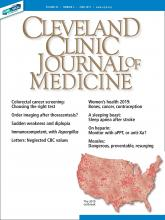 Cleveland Clinic Journal of Medicine: 86 (6)