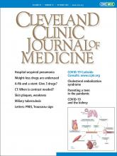 Cleveland Clinic Journal of Medicine: 87 (10)