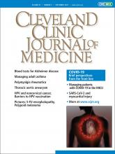Cleveland Clinic Journal of Medicine: 87 (9)