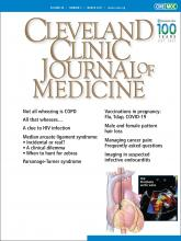 Cleveland Clinic Journal of Medicine: 88 (3)