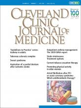 Cleveland Clinic Journal of Medicine: 88 (7)